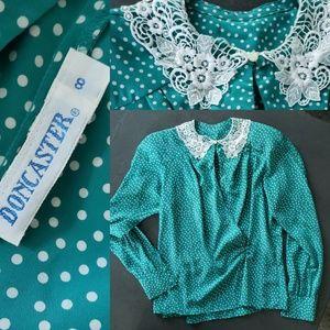 Doncaster polka dot blouse